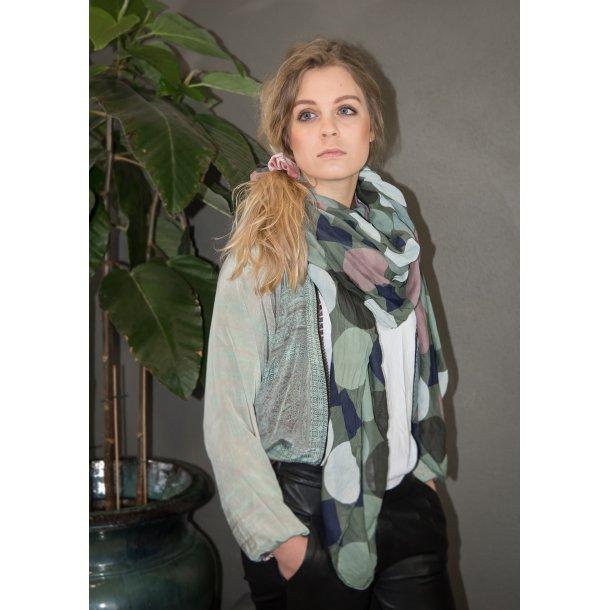 LUNA jacket / jakke vendbar multiflowermint fra Black Colour (9863MF-)
